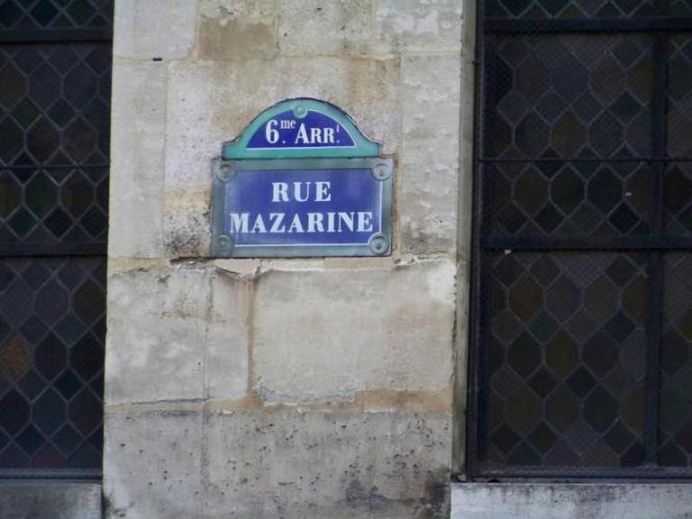 Rue Mazarine in the 6th arrondissement of Paris I Wikicommons