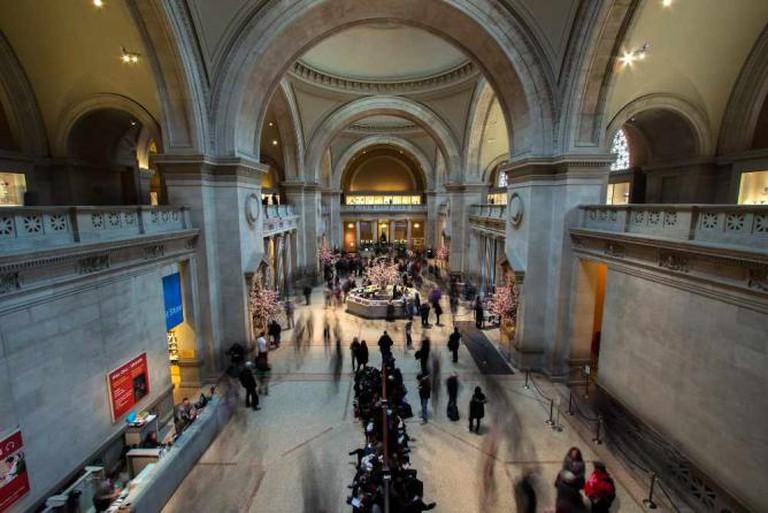 interior of the Met