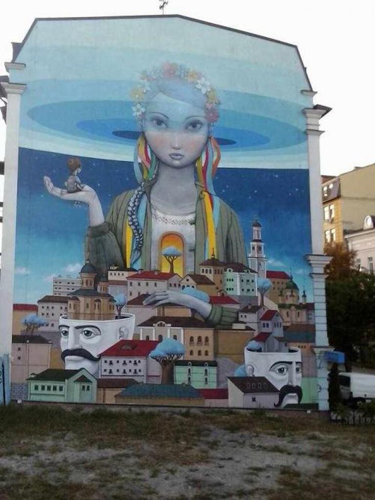 Street art on Andryivskyi Uzviz | © Valentine Baldassari