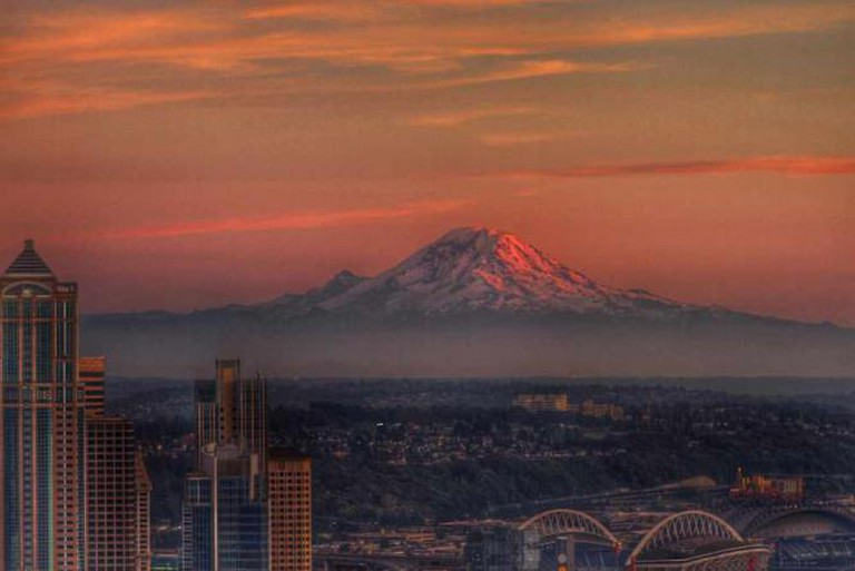 Sunset view from the Space Needle