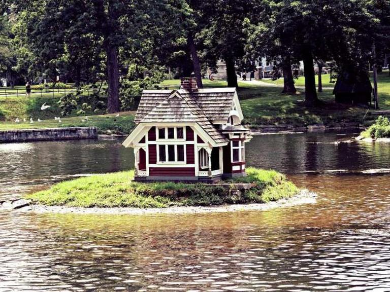 Duck House, Deering Oaks Park