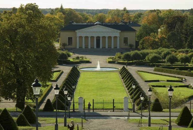 The Formal Garden and Orangerie of the Botanical gardens of Uppsala University