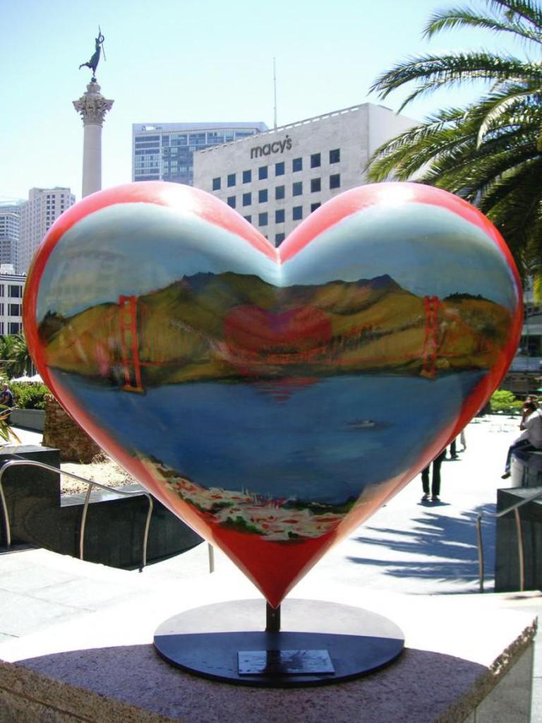 Tony Bennett's heart in San Francisco | © Beatrice Murch/Flickr