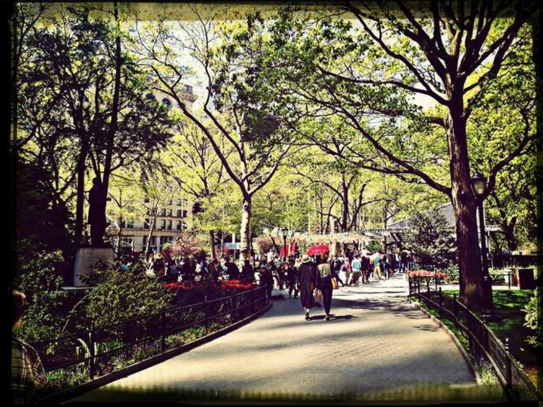 Hanging out at Madison Square Park | © nooromid/Flickr