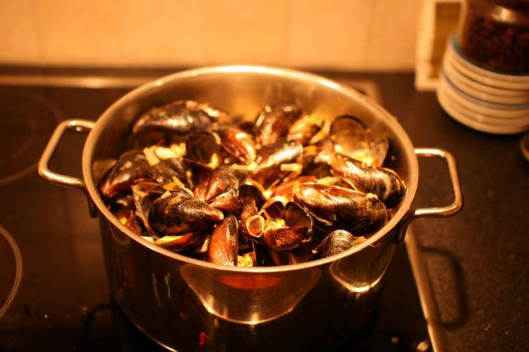 Delicious Home Cooked Mussels