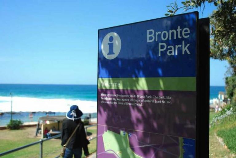 Sign - Bronte Park