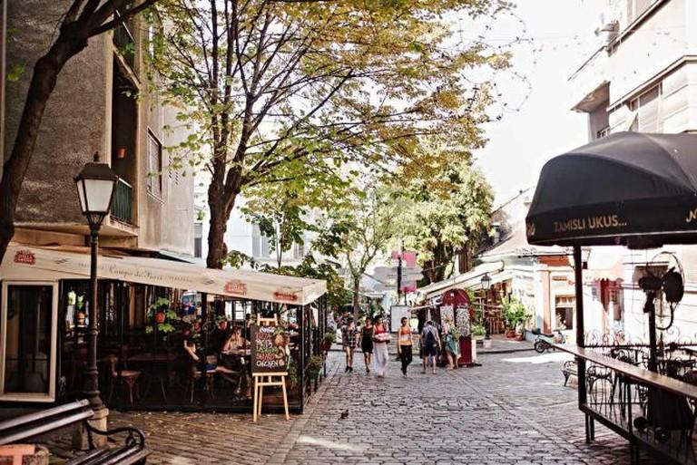 Cobblestone street of Skadarlija just around the corner from Yugodom © Monika Pavlović