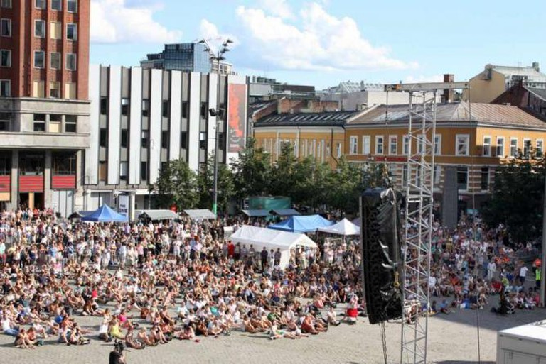 A concert at Youngstorget