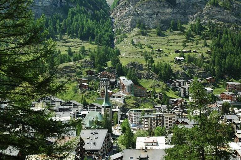 View of Zermatt | © Zermatt photos/Wikimedia Commons