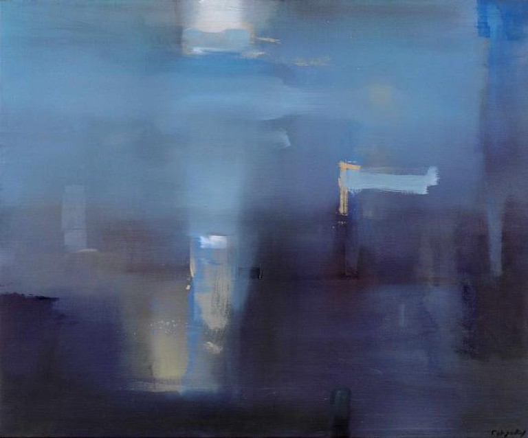 Yiannis Adamakos, Lumen IE, Oil on Canvas, 95x115 cm, 2014 | Courtesy of Citronne Gallery
