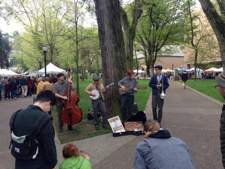 Musicians at Portland Farmers Market