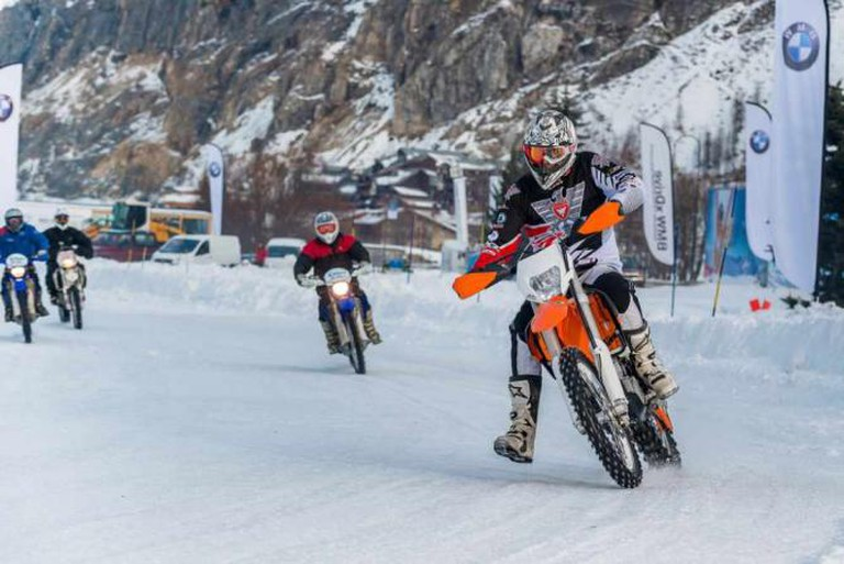 Val d'Isère ice biking