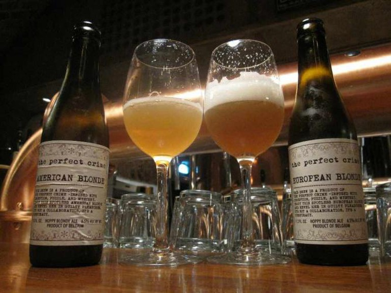 Craft brews such as these are served at Brewer's Cask.