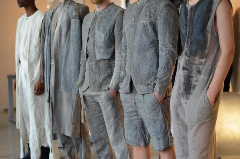 Mirka Horka's cement-inspired collection | Courtesy of Mirka Horka