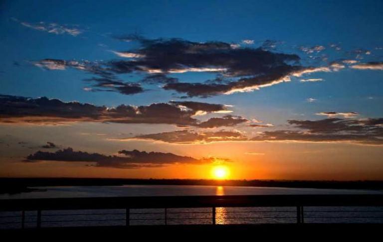 Sunset at Paranoá Lake