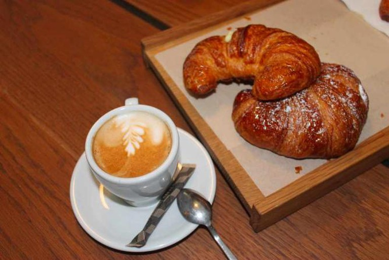 Cappuccino and croissants