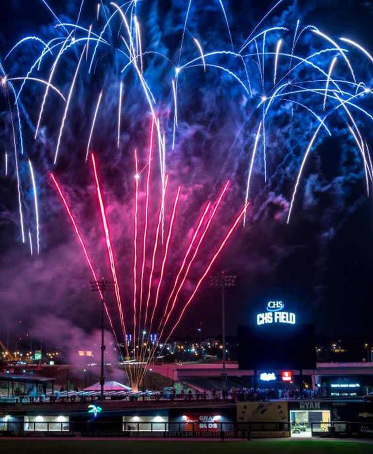Fireworks over CHS Field