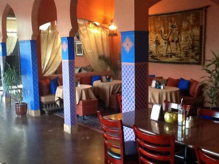 Interior of Casbah | Courtesy of Casbah Restaurant