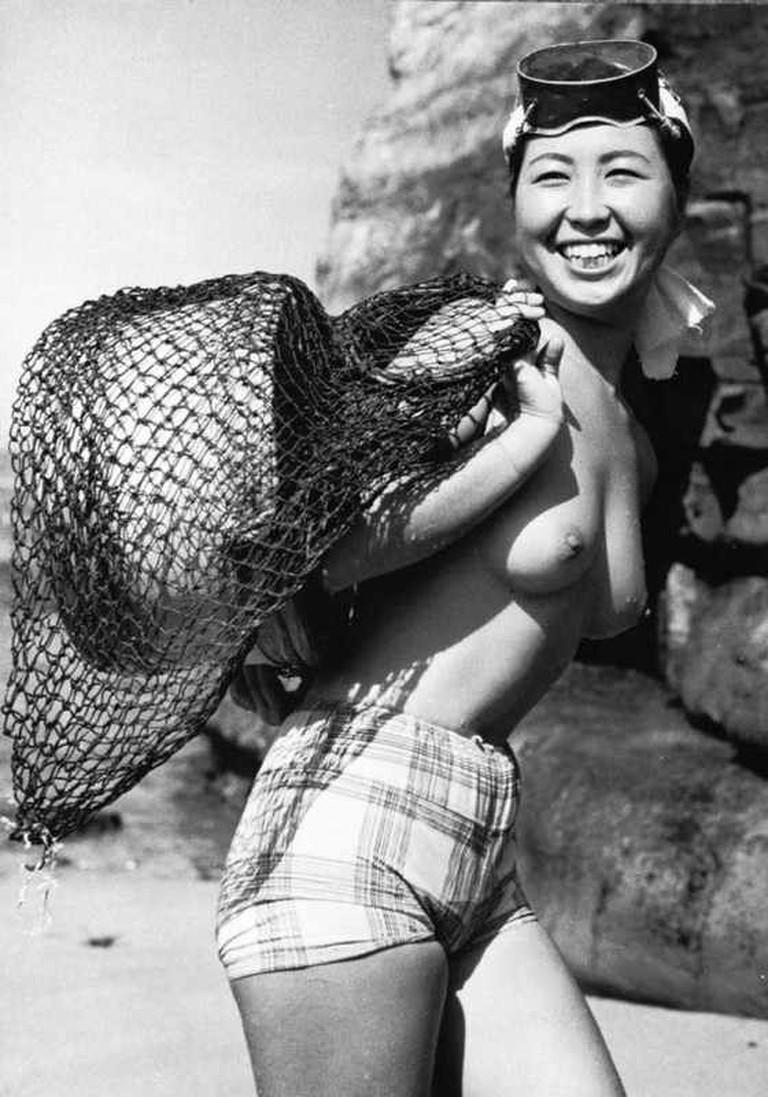 Traditional Ama Diver in 1954   © Fosco Maraini