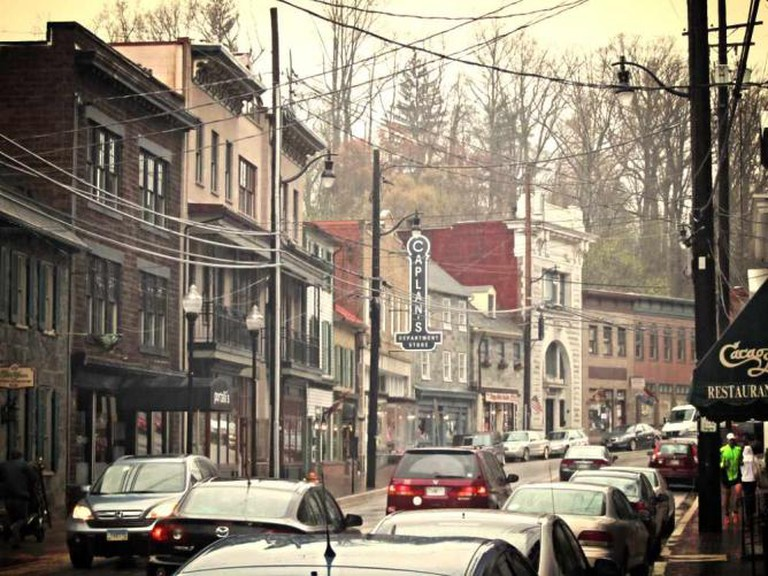 The Main Street of the charming and quiet Ellicott City in Baltimore.