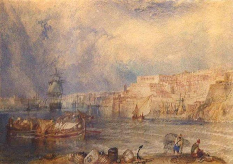 J.M.W. Turner's watercolour depicting the Grand Harbour