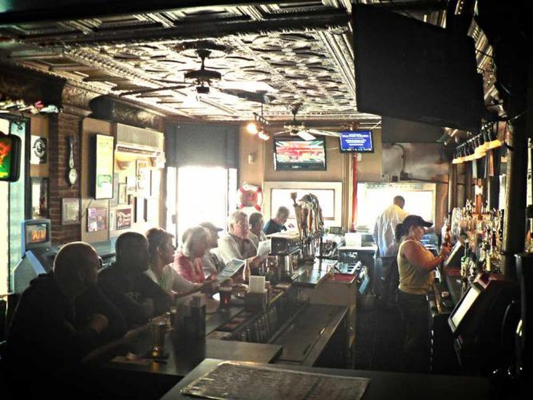The inside bar at Mahaffey's Pub.
