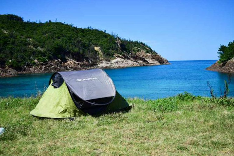 Mimiura beach and campsite, Nishinoshima.