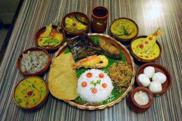 Traditional Bengali Fish full meal
