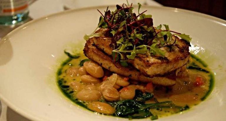 A elegant main dish at Panzano.