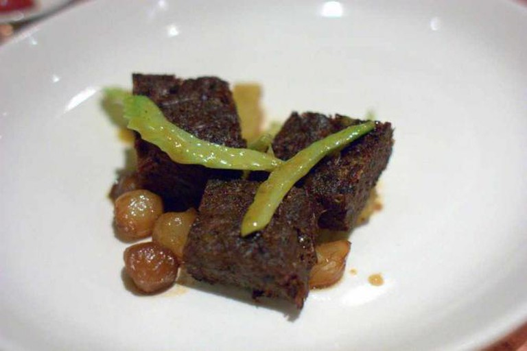 zahav beef cheeks, potatoes, caramelized onions, paprika, celery | © Krista/Flickr