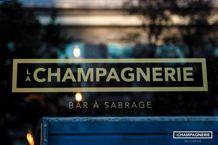 Outside La Champagnerie | Courtesy of La Champagnerie