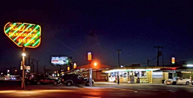 The drive-in at Keller's in Dallas, Texas.