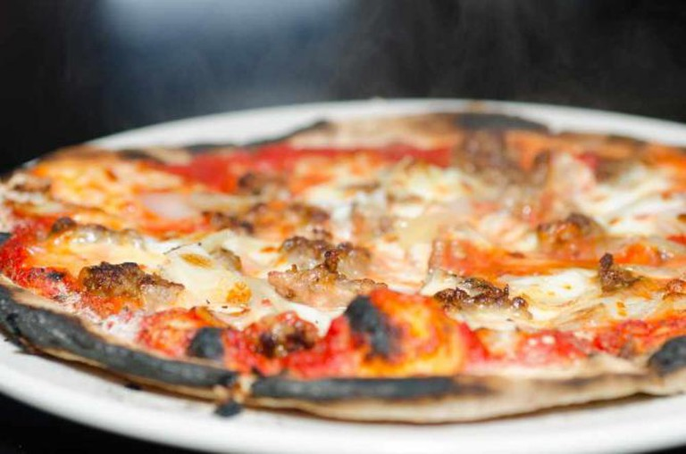Wood-fire pizza