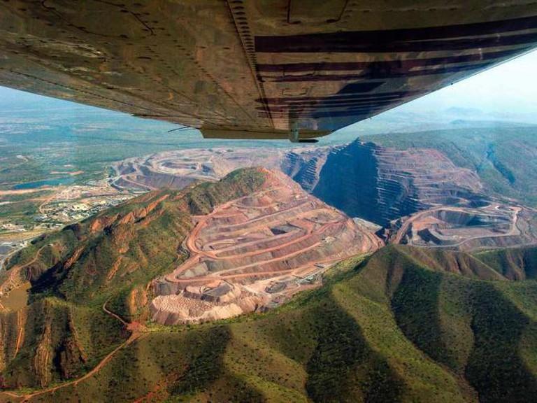 Argyle Diamond Mine seen from above © David Gardiner