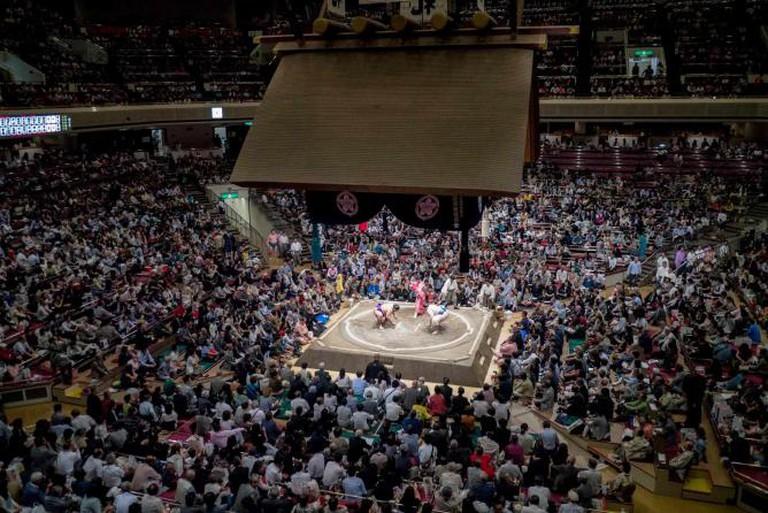 Sumo wrestling in Tokyo | © Yasmine Awwad/http://peekingduck.co
