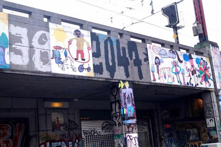 Recyclart graffiti