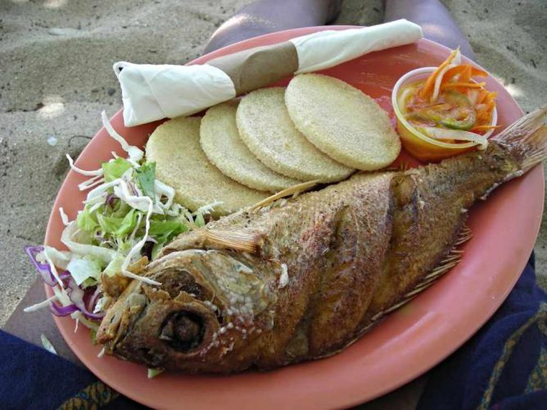 Fried Fish and Bammy