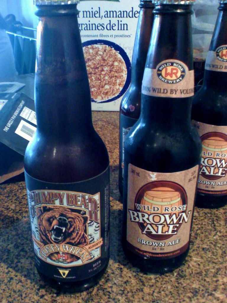 Wild Rose Brown Ale (right)