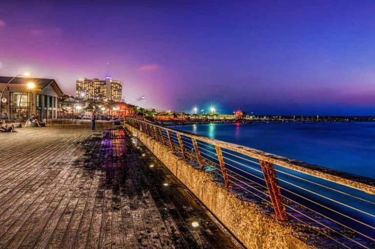 Tel Aviv Port at night