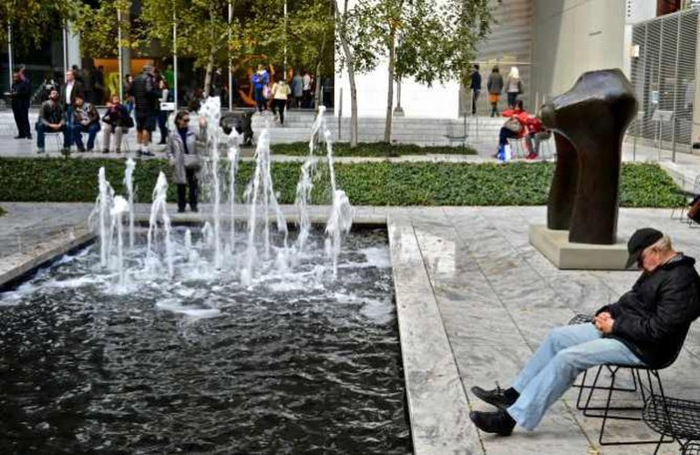 A Creative Commons image: Museum of Modern Art, MOMA, courtyard, New York City