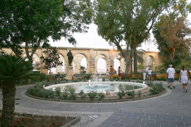 Upper Barrakka Garden in Valletta