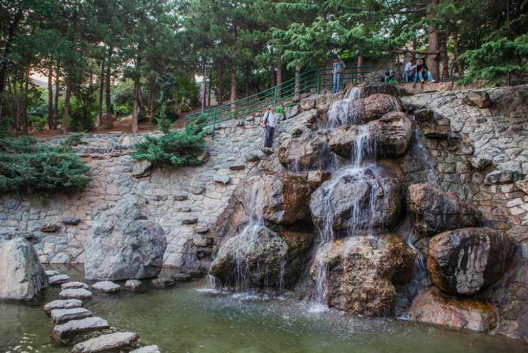 Waterfall at Jamshidieh Park