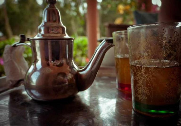 Tunisian mint tea
