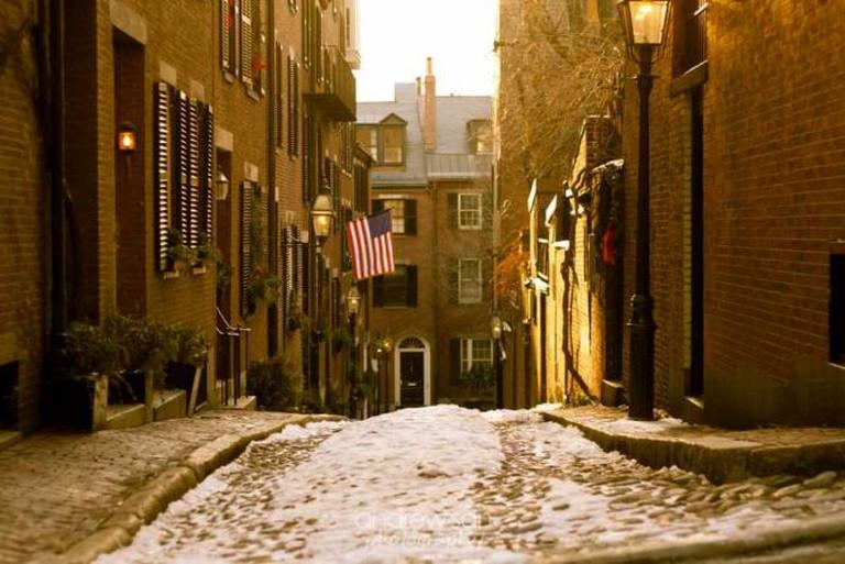 Acorn Street, Boston | © andrewjsan/Flickr