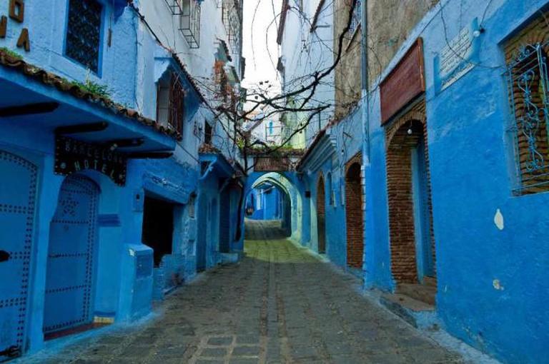 Street in Chefchaouen, Morocco | © Mark Fischer/Flickr
