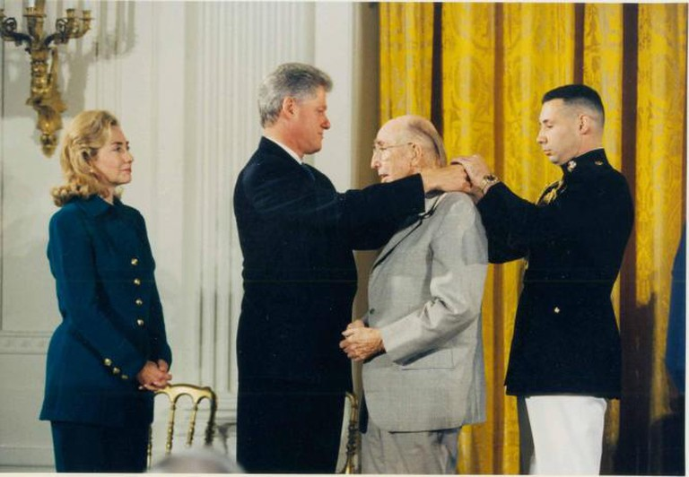 Bill and Hillary Clinton photo with James Rouse