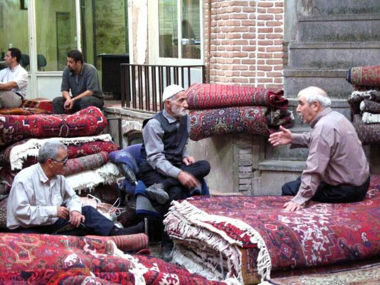 Carpet bazaar, Tehran   © Fulvio Spada/Flickr