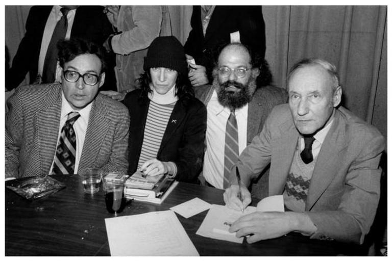 Carl Solman, Patti Smith, Allen Ginsberg, and William S Burroughs