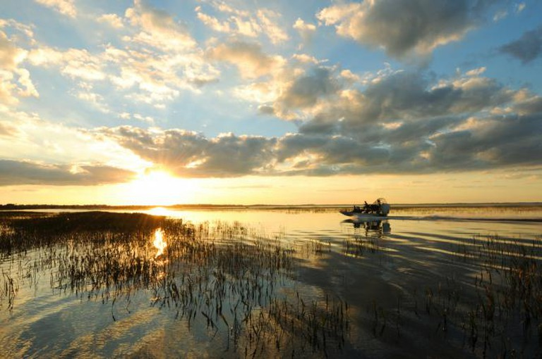 An airboat on Lake Tohopekaliga © Experience Kissimmee/Flickr