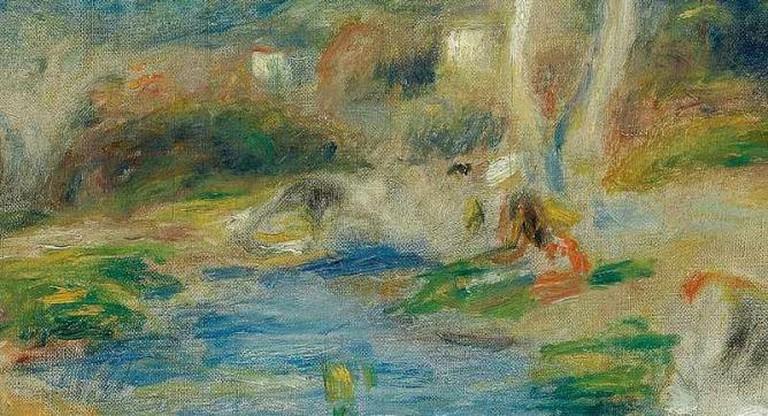 Pierre-Auguste Renoir - Paysage (Cagnes) (1910) - Detail | © Centralasian/Flickr